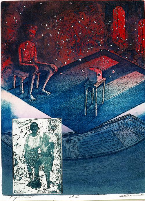 Gordon Sherman  Right Time  Intaglio photo-etching