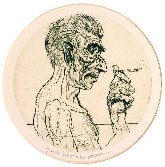 Harvey Breverman  Younger Beckett  engraving