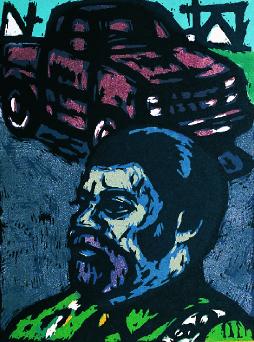 David Johnson  Pickup Truck  intaglio