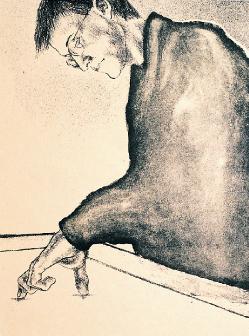 Yu Kanazawa  Light Box  lithograph/chine collé