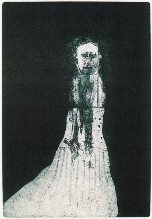 Robert Marx  Manikin  black and white intaglio