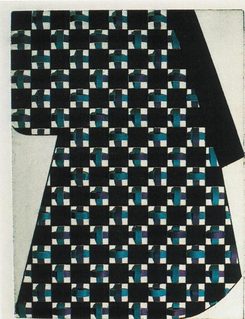 Sumi E. Putman  My Kimono XXXII  intaglio, weaving