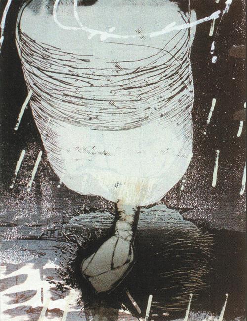 Sean Caulfield  Second Poem: The Rocket  lithograph, silkscreen