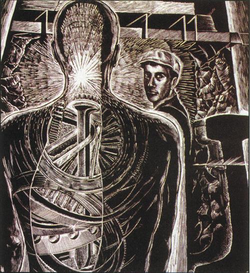 Judith Jaidinger  His Own Acquaintance  Wood engraving