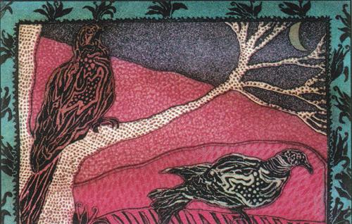 Sarajini Jha Johnson  Summer Birds  Intaglio