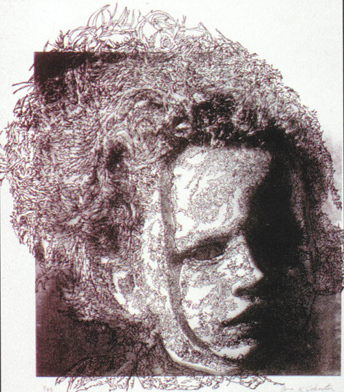 Ann K. Johnston  My Anxiety Reflected  Lithograph, etching