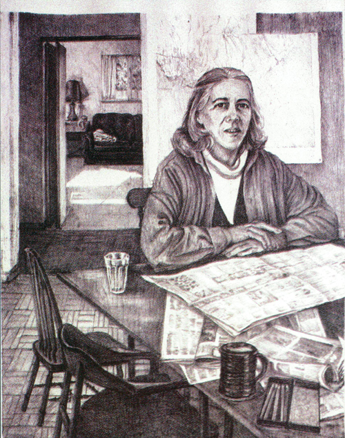 Mary Warshaw  Darien  lithograph