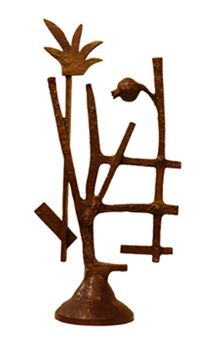 Oded Halahmy   Ladder In Bloom , 1977 cast bronze ASU Permanent Collection of Art Gift of Oded Halahmy Foundation for the Arts