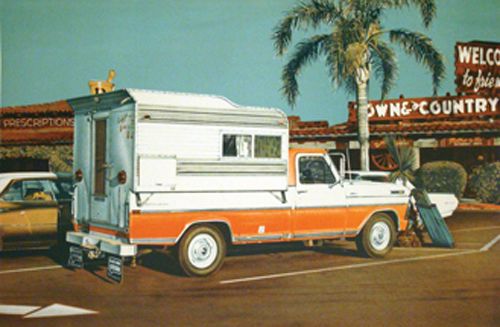 Ralph Goings   Camper , 1972 lithograph ASU Permanent Collection of Art Gift of Louis K. and Susan P. Meisel