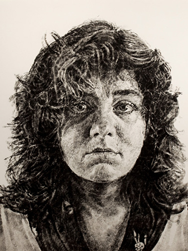 Chuck Close   Marta , 1986 black and white etching with embossing Courtesy of the Tennessee State Museum