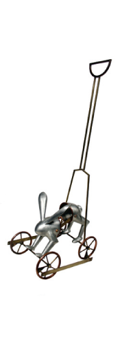 Miel Margarita Paredes   The Hopping Push Toy , 2005 pewter, copper, brass Courtesy of the Arkansas Arts Center