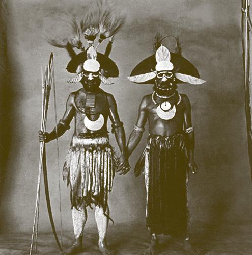 Irving Penn   Two New Guinea Men Holding Hands , 1970/79