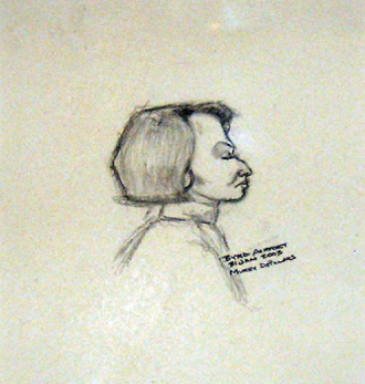 Murray N. DePillars   Jus' Sittin' at Byrd Airport , 2003 pen and ink on paper