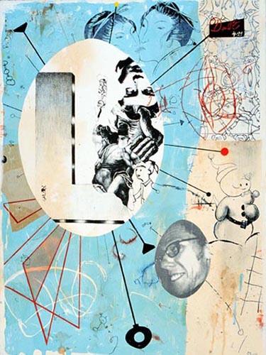 Jon Rappleye   Season of Doubt , 2001 woodcut, lithograph, chine collé and hand-coloring