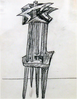 Seymour Lipton   Untitled , c. 1965 - 1985 litho crayon on paper Courtesy of the Arkansas Arts Center Foundation Collection