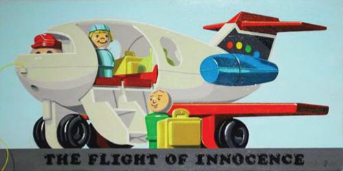 Jonathan Fenske   the Flight of Innocence , 2002 acrylic on panel