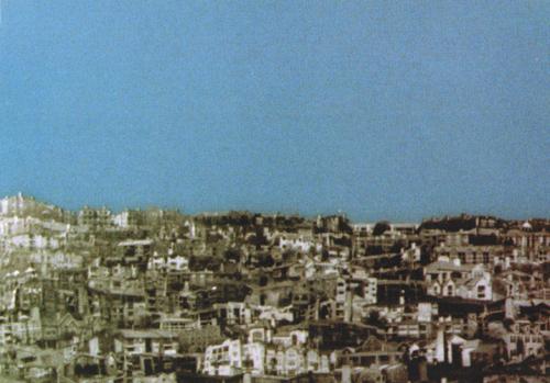 Jason Almond   Landscape , 2002 collage on plastic Courtesy of Leslie and Daniel Schoultz