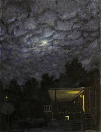 Warren Criswell   Lonely Night , 2009 oil on canvas 30 x 24 inches