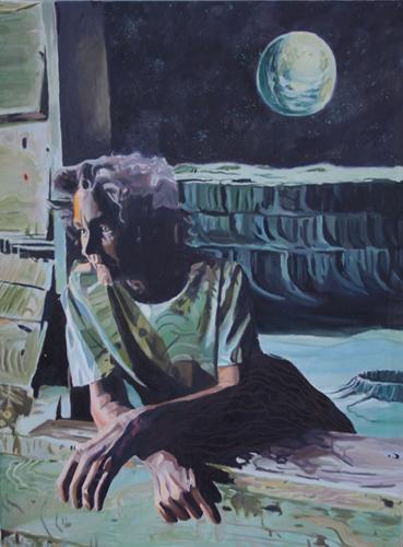 Ashley Bradley   Adrift , 2012 oil on canvas 20 x 30 inches
