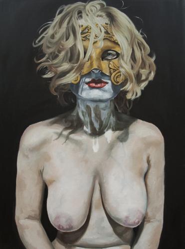 Hayley Denton   Athena , 2012 oil on panel 36 x 48 inches