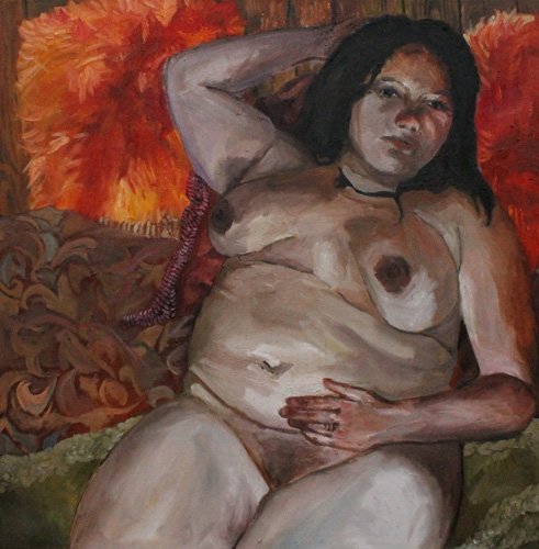 Abby Ganong   Janette , 2013 oil on canvas 40 x 40 inches