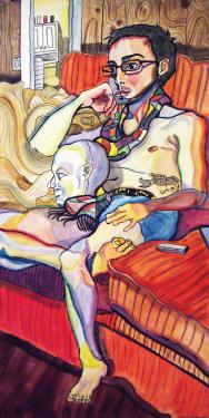 Paisley Gray   Don't Be Koi , 2012 gouache on wood panel