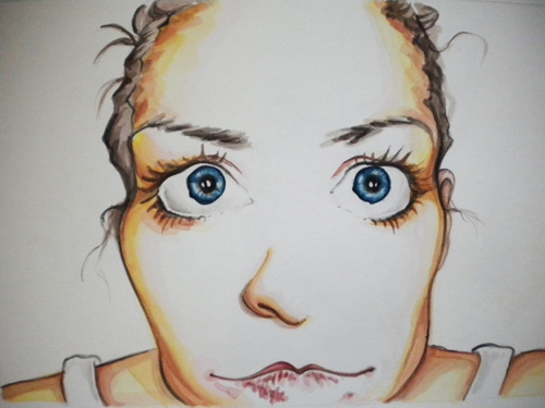 Candice Teeter   Me , 2010 watercolor on paper