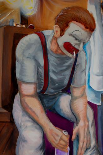 Jake Gambill   Break Time , 2009 oil on paper