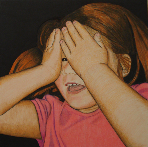 Cindy Province   Peek-A-Boo , 2010 Prismacolor on Bristol board
