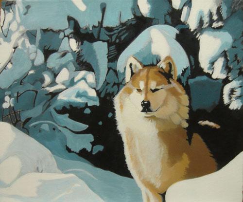 Shawn Aronson   Howl , 2008 oil on canvas