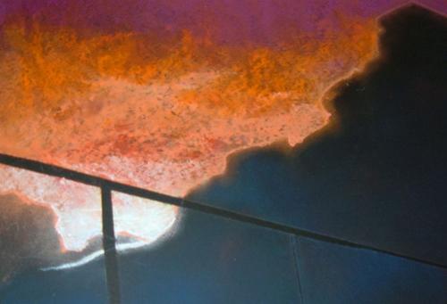 Jorel Martin   Colorful Sunset , 2007 soft pastel on paper