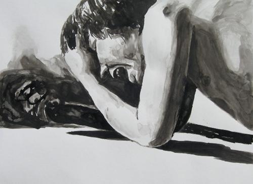 David Foust   Overburn , 2007 ink on paper