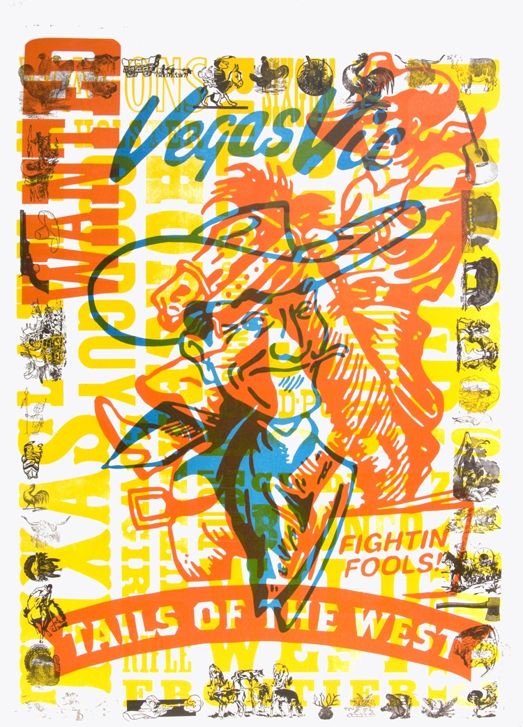 Casey McGarr   Vegas Vic , 2008 letterpress
