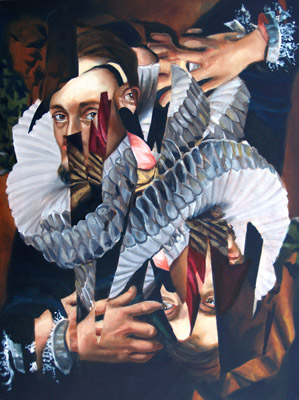 Melissa Wilkinson   Collar; I work it , 2012 oil on panel