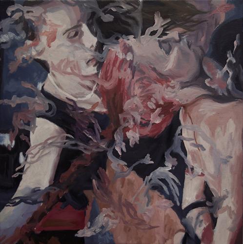 Kim Ward   Tame ,2015 oil on canvas 20 x 20 inches