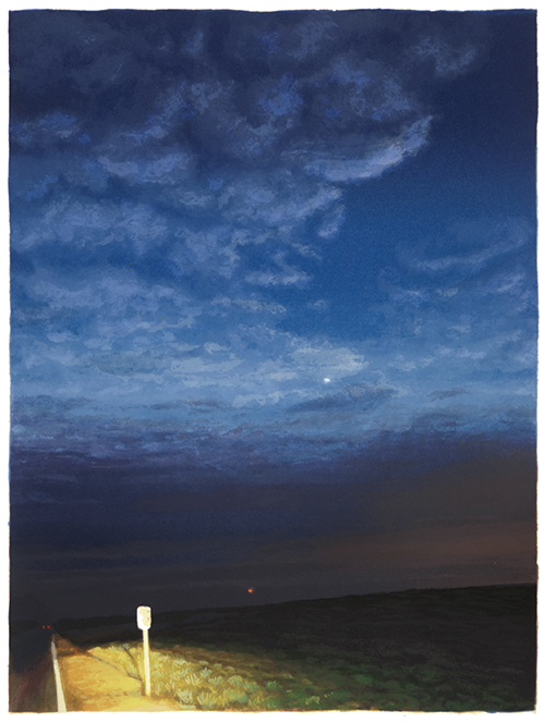 Nancy McIntyre   Sky and Road , 2016 silkscreen 13 x 10 inches