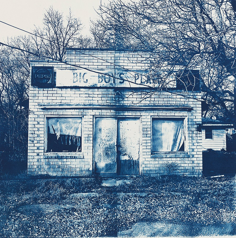 Beverly Buys   Big Boys Place , 2016 cyanotype 15.5 x 15.5 inches
