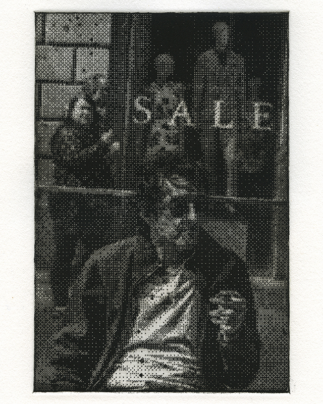 Nick Beaty   Everything Must Go , 2018 intaglio 15 x 11 inches