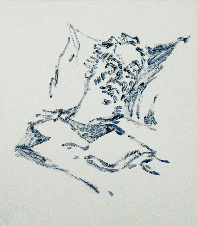 Sharon E. Rawlins   Healing , 2018 monotype 8 x 7 inches