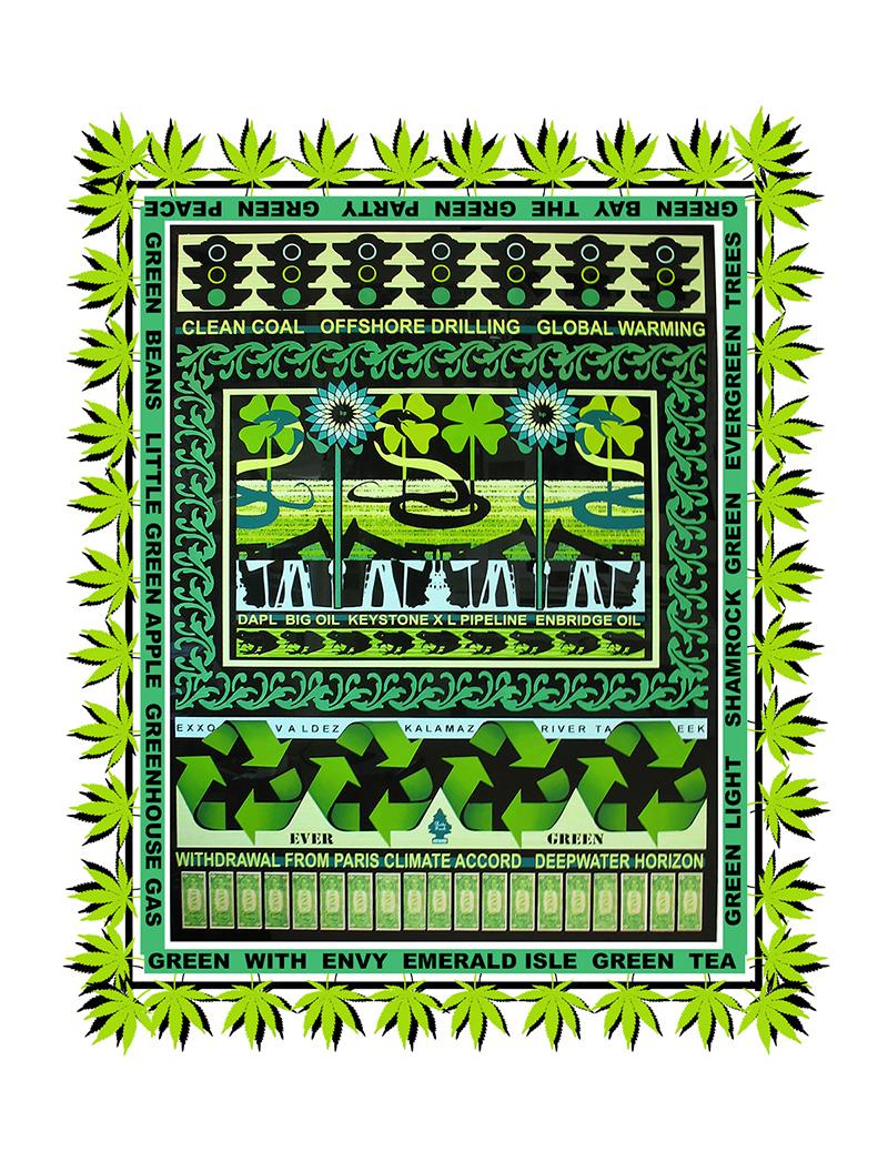 Margi Weir   Ever Green , 2017 digital ink print on rag paper 15 x 11 inches