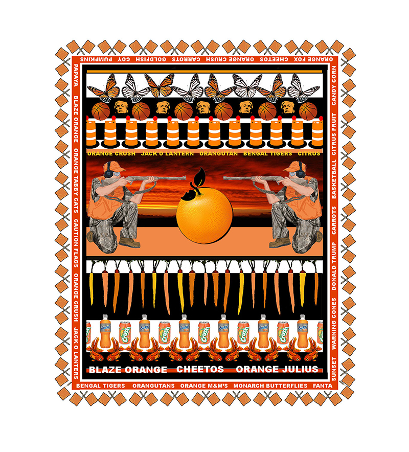 Margi Weir   Orange Crush , 2018 digital ink print on rag paper 15 x 11 inches