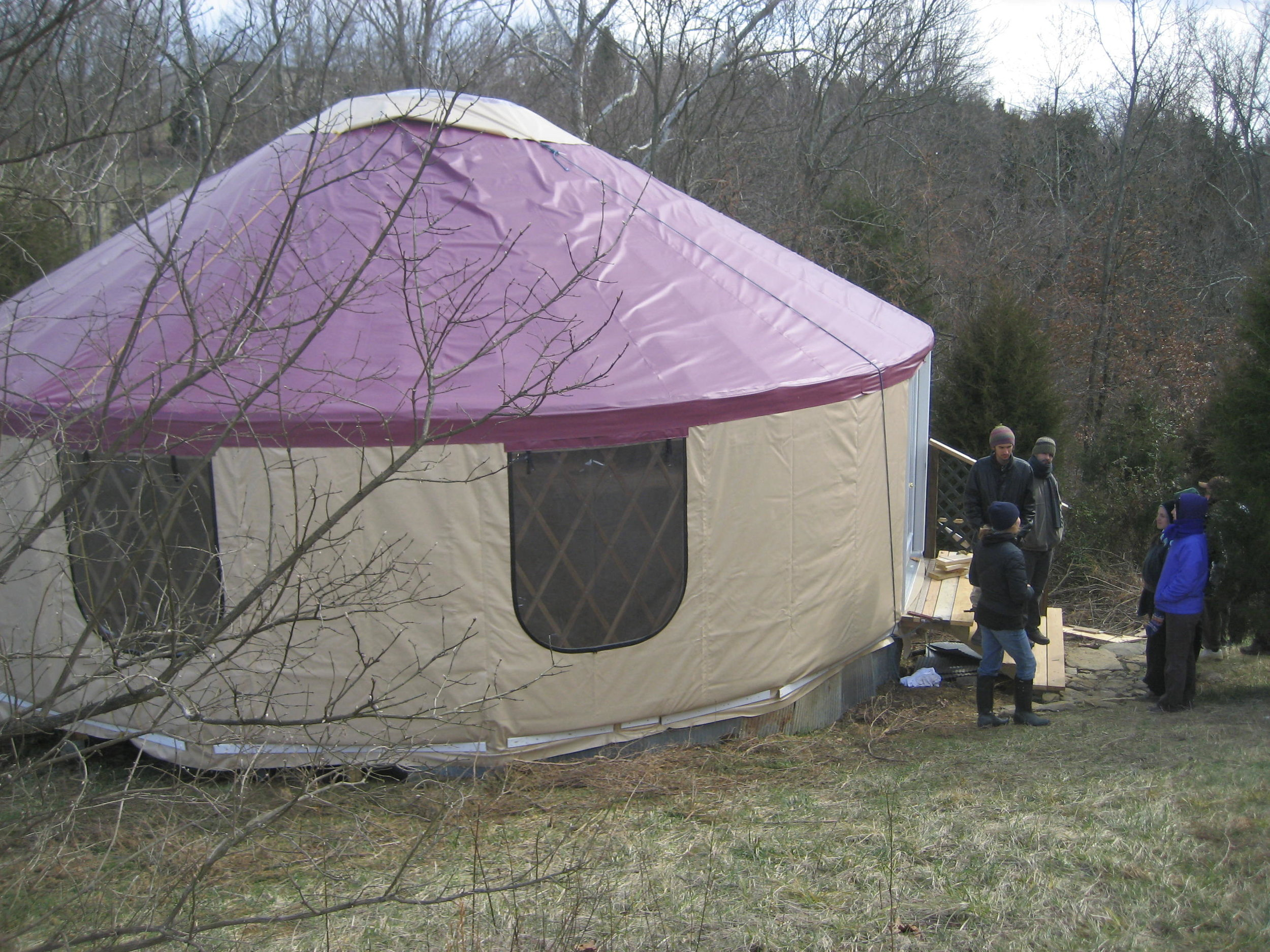The Exterior of the Yurt at Greensleeves