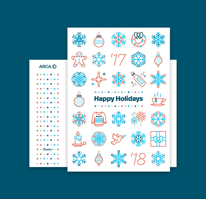 2017 ARCA Holiday Card  Illustration, print