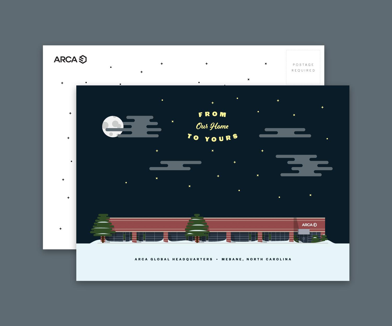 2018 ARCA Holiday Card  Illustration, print