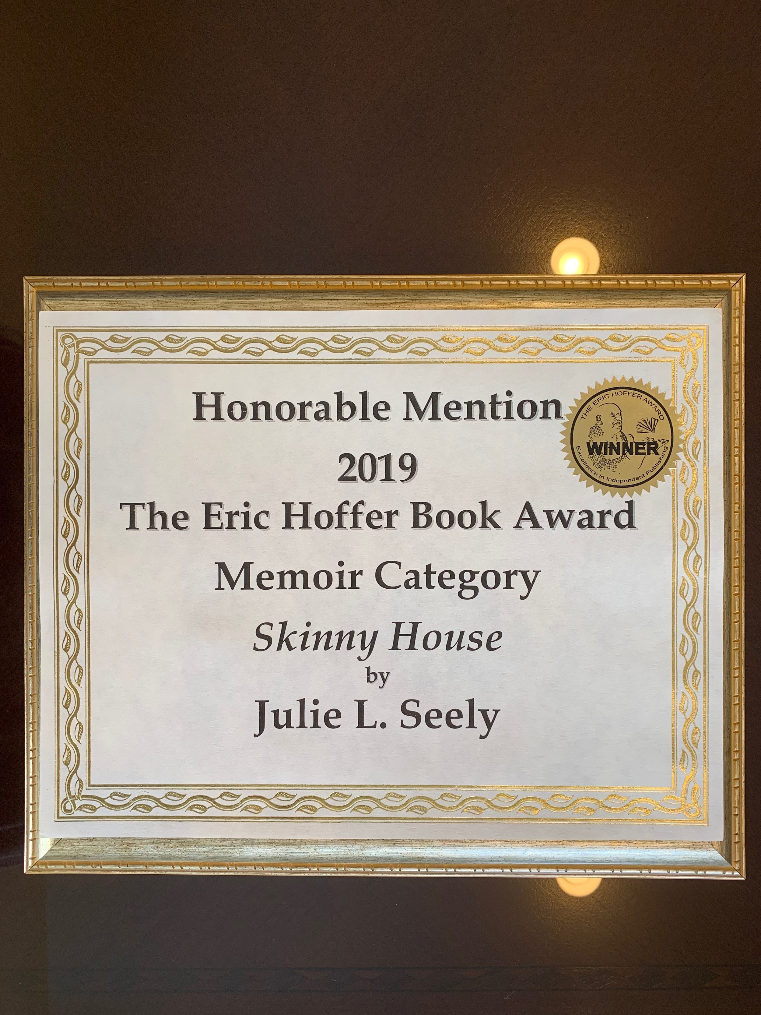 Eric Hoffer Award for Skinny House