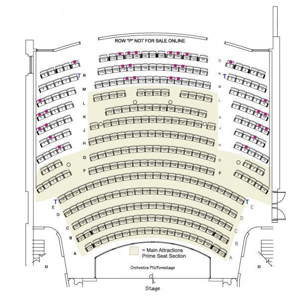 Thalian Hall Main Stage Seating Chart - 1st Floor