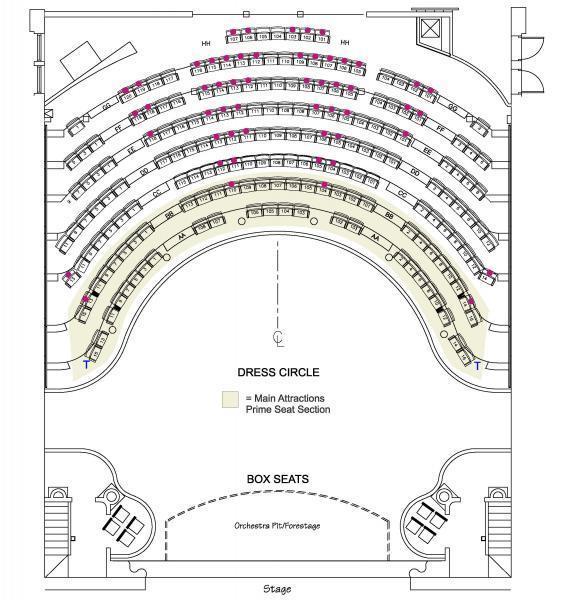 Thalian Hall Main Stage Seating Chart - 2nd Floor Balcony