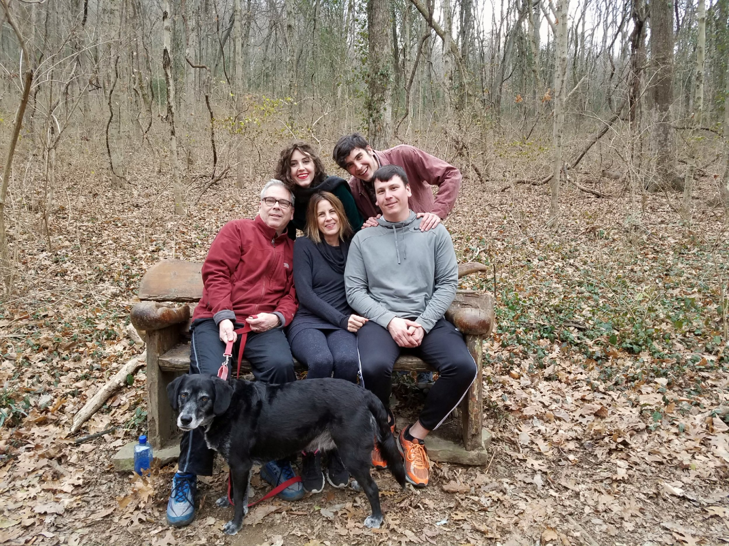 Rob, Moi, Savannah, Dillon, Drew--and our sweet baby Henry!  (Now go outside and enjoy the woods!)