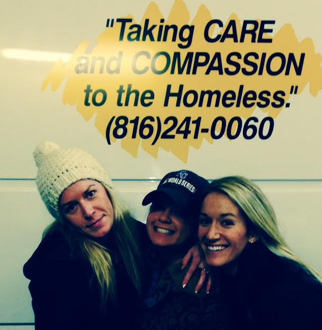 Pictured above : Sadie Wiechmann (left) with her friend and sister at Uplift.