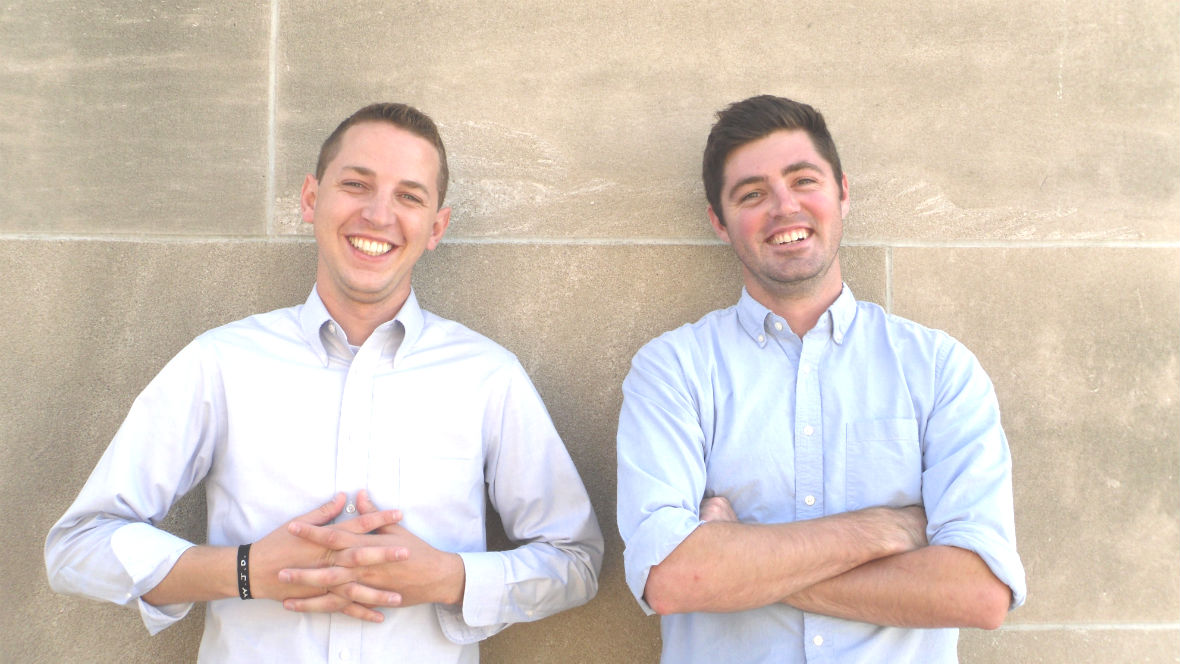 Brent Lobdell, right, co-founded The Call KC with Brent Lager, left, in 2013.